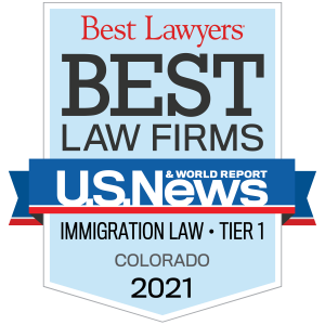 Best Law Firms badge representing how our Colorado Springs Immigration law firm is experienced in handling immigration cases